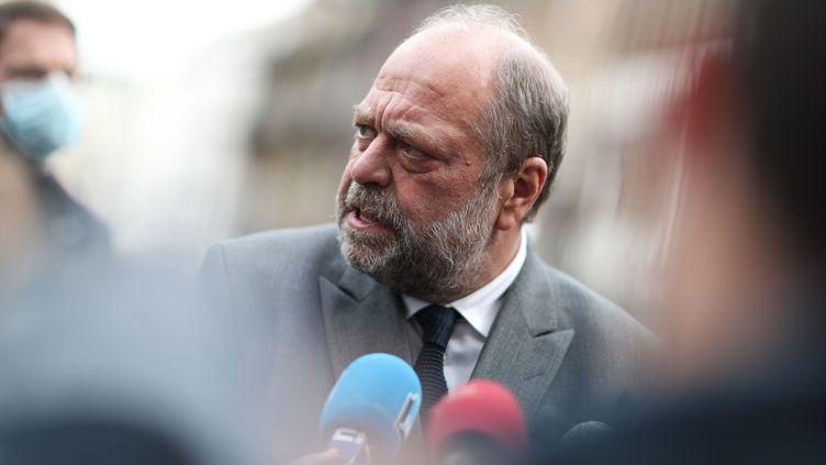 Le ministre de la Justice Eric Dupond-Moretti à Rouen, le 7 mai 2021. (MAXIME LE PIHIF / SIPA)