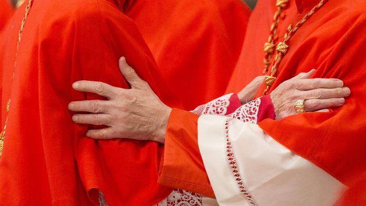Deux cardinaux se saluent au Vatican. Photo d'illustration. (RICCARDO DE LUCA / MAXPPP)