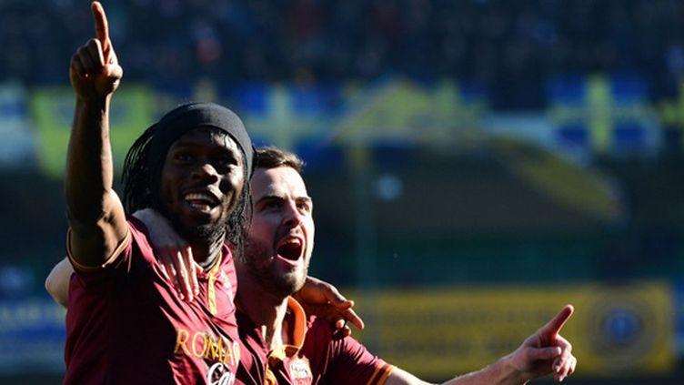 Gervinho et Pjanic (As Roma) (GIUSEPPE CACACE / AFP)