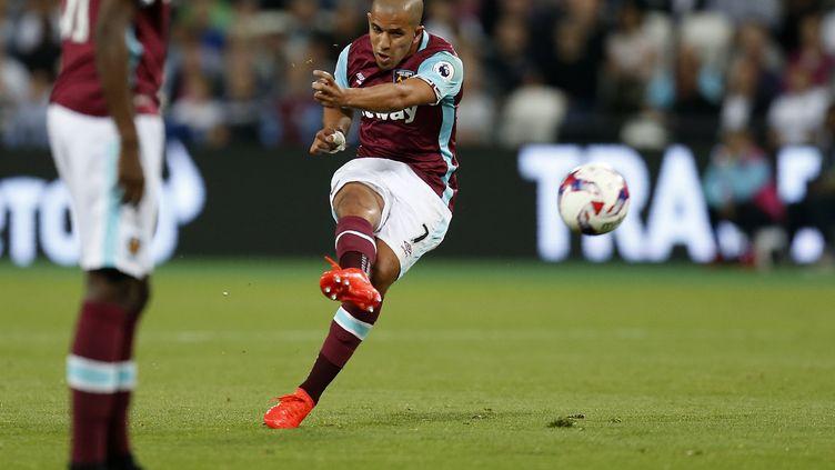 Sofiane Feghouli n'est apparu qu'à sept reprises sous le maillot de West Ham cette saison.  (IAN KINGTON / AFP)