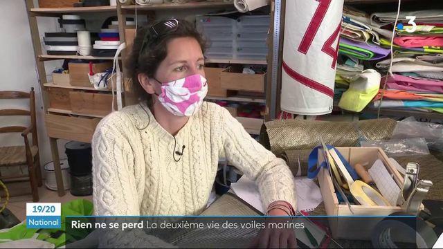 Environnement : une couturière donne une seconde vie à des voiles marines