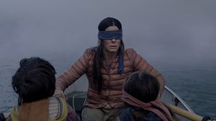 "Sandra Bullock dans le film ""Bird Box"", diffusé sur Netflix. (NETFLIX)"