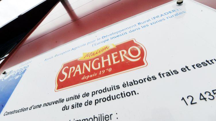 L'entrée d'une usine Spanghero à Castelnaudary (Aude), le 26 avril 2013. (ERIC CABANIS / AFP)