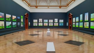 """La série, exposée à la Royal Academy de Londres, est baptisée""""L'Arrivée du Printemps"""".   (RICHARD PLACE / RADIO FRANCE)"""