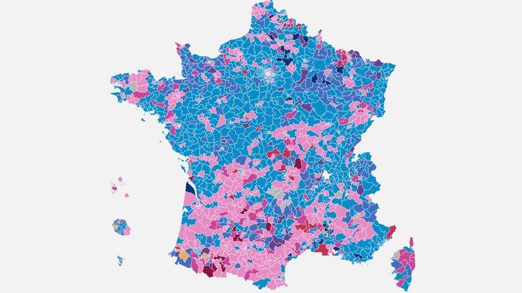 La carte des résultats des élections départementales 2015, canton par canton. (NICOLAS ENAULT / FRANCETV INFO)