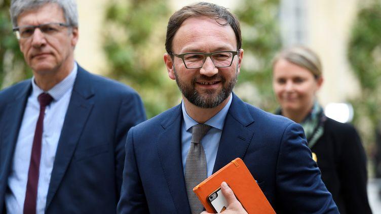 Patrick Mignola, président du groupe MoDem à l'Assemblée nationale, arrive à Matignon, à Paris, le 29 avril 2019. (BERTRAND GUAY / AFP)