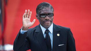 Le vice-président de la Guinée Equatoriale Teodoro Nguema Obiang Mangue, alias Teodorin, à Pretoria, en Afrique du Sud, pour l'investiture du président sud-africain sortant Cyril Ramaphosa, le 25 mai 2019. (MICHELE SPATARI / AFP)