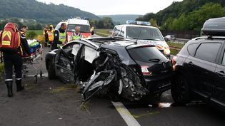 Accident mortel sur l'autoroute A31, en Meurthe-et-Moselle. (MAXPPP)