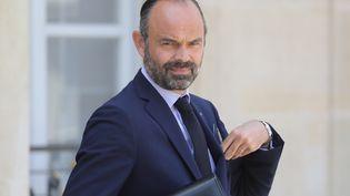 Edouard Philippe quitte l'Elysée après le conseil des ministres, le 17 juillet 2019 (LUDOVIC MARIN / AFP)