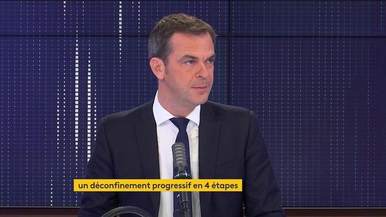 Olivier Véran, le ministre de la Santé, était l'invité de franceinfo vendredi 30 avril 2021. (FRANCEINFO / RADIO FRANCE)