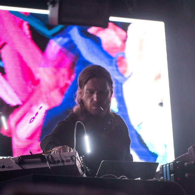 Aphex Twin, le 2 juin 2017, à Londres. (RICHARD ISAAC / /SIPA)