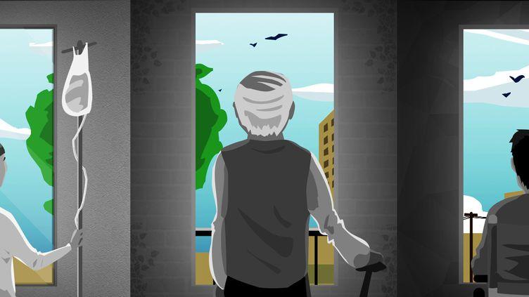 """Les personnes """"vulnérables"""" s'interrogent sur leur sortie du confinement, au-delà du 11 mai 2020. (PIERRE-ALBERT JOSSERAND / FRANCEINFO)"""