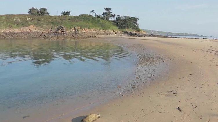 ÀSaint-Briac(Ille-et-Vilaine), les plages sauvages sont préservées, comme celle du Perron. (CAPTURE D'ÉCRAN FRANCE 2)