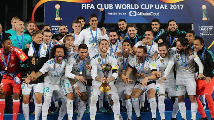 Le Real Madrid vainqueur de la Coupe du monde des clubs 2017 (KARIM SAHIB / AFP)