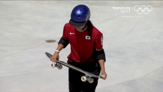 Numéro deux au classement mondial, la Japonaise Sakura Yosozumi est sacrée championne olympique grâce à un run noté à 60.09. Elle apporte la 19e médaille d'or à la délégation japonaise.