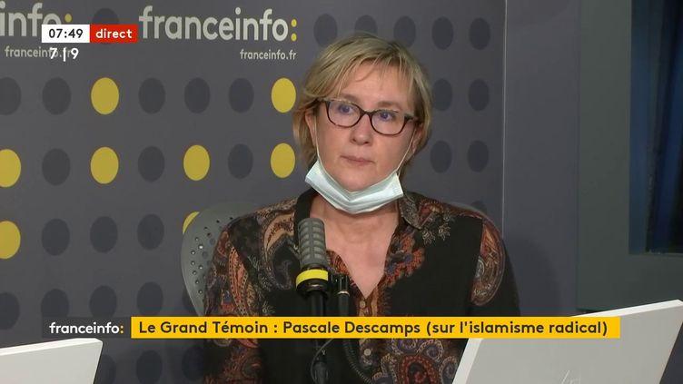 Pascale Descamps était l'invitée de franceinfo jeudi 21 janvier 2021. (FRANCEINFO / RADIO FRANCE)