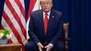 Le président américain Donald Trump lors d'une rencontre avec le Premier ministre irakien Adil Abdul-Mahdi à New York, le 24 septembre 2019. (SAUL LOEB / AFP)