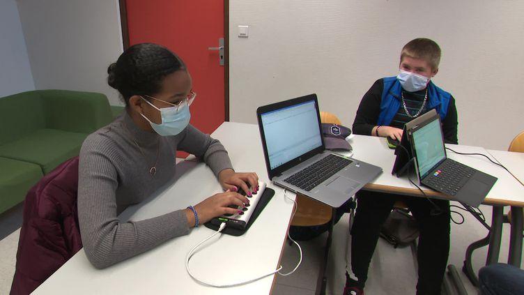 14 élèves mal voyants étudient au collège Louis Lumière. (F. Le Moing / France Télévisions)