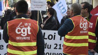 Lors de la manifestation du 1er-Mai, en 2016, à Rennes (France). (DAMIEN MEYER / AFP)