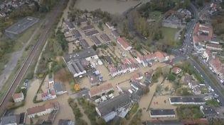 Saint-Étienne-au-Mont (Pas-de-Calais) inondée, mercredi 6 novembre. (France 2)