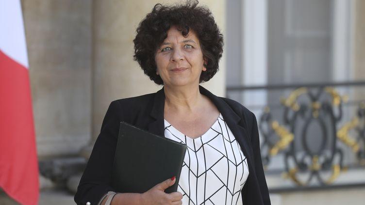 Frédérique Vidal,ministre de l'Enseignement supérieur, à la sortie du palais de l'Elysée, le 7 juillet 2020, à Paris. (LUDOVIC MARIN / AFP)