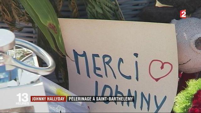Saint-Barthélémy : les fans de Johnny Hallyday en pèlerinage