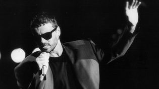 Le chanteur britannique George Michael sur scène pour le Rock in Rio, au Brésil, en 1991  (ANA CAROLINA FERNANDES / ESTADAO CONTEUDO / AGÊNCIA ESTADO)
