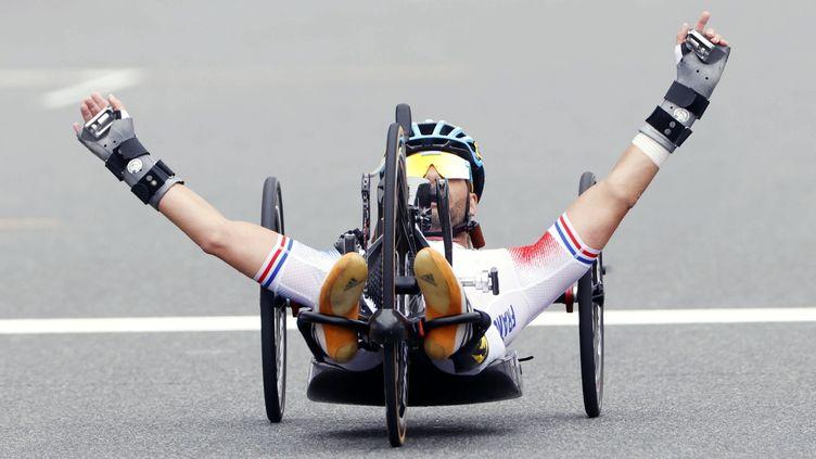 Florian Jouanny (photo), Loic Vergnaud etRiadh Tarsim ont remporté l'argent en relais par équipes, jeudi 2 septembre. (Kyodo/MAXPPP)