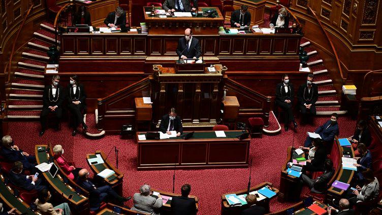 L'hémicycle du Sénat. (MARTIN BUREAU / AFP)