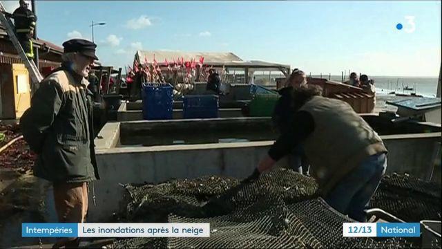 Côte Atlantique : les inondations après la neige