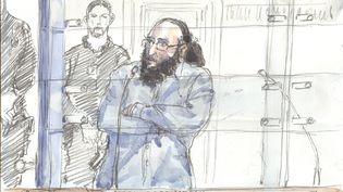 Abdelkader Merah lors de son audition devant la cour d'assises spéciale de Paris, le 20 octobre 2017. (BENOIT PEYRUCQ / AFP)