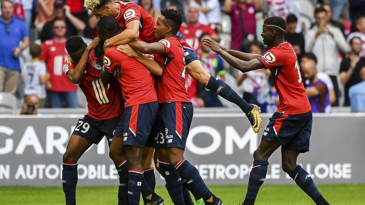 Le Losc a fait le plein de confiance lors de la 1ère journée de L1 face à Nantes (PHILIPPE HUGUEN / AFP)