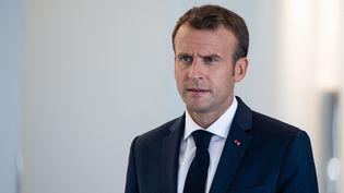 Emmanuel Macron à Montréal (Canada), le 7 juin 2018. (DAVID HIMBERT / HANS LUCAS / AFP)