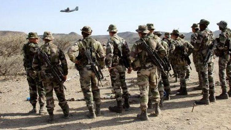 Des soldats français lors d'exercices d'entraînement à Djibouti. (AFP/JACQUES DEMARTHON)