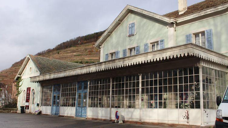 La jolie gare de Guebwiller est à vendre : 250000 euros, 4 décembre 2018. (ELISE GUILLOTEAU / MAXPPP)