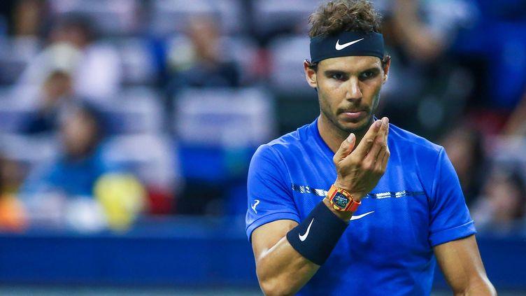 Rafael Nadal lors du tournoi de Shanghai.