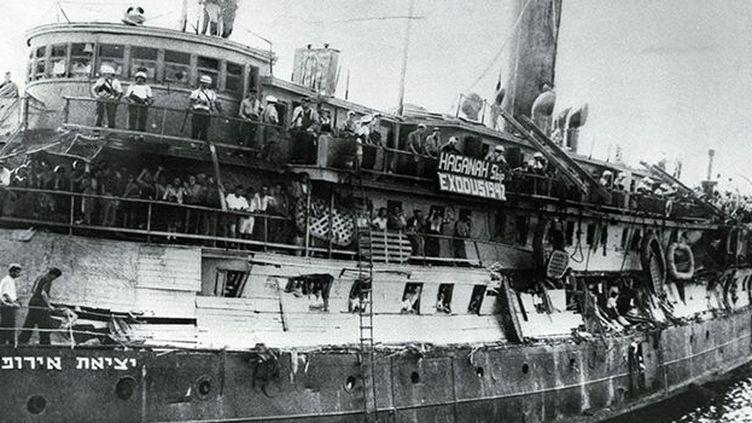 L'Exodus, avec à son bord 4.500 émigrants juifs, rescapés des camps de concentration nazis. (Reuters)