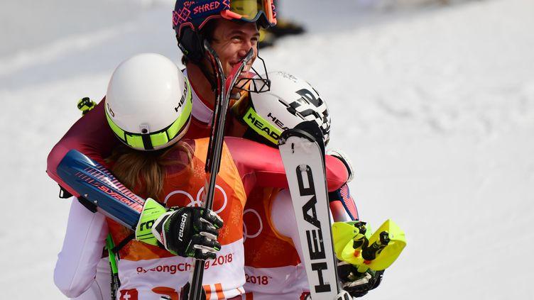 La Suisse est le premier pays champion olympique de Team Event (MARTIN BERNETTI / AFP)