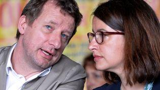 Yannick Jadot et Cécile Duflot à Notre-Dame-des-Landes (Loire-Atlantique), le 22 juin 2016. (JEAN-FRANCOIS MONIER / AFP)