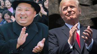 Le dirigeant nord-coréen Kim Jong-un et le président américain Donald Trump. (KCNA / AFP)