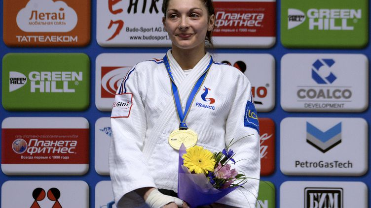 Automne Pavia, championne d'Europe de judo 2016 (VASILY MAXIMOV / AFP)