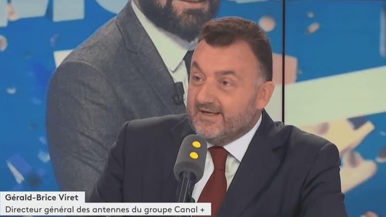 Gérald-Brice Viret, directeur général des antennes du groupe Canal+. (FRANCEINFO/RADIOFRANCE)