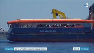 Le navire humanitaire Sea-Watch (France 3)