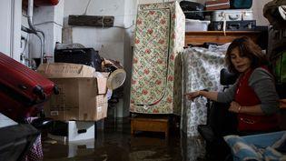 (Une maison inondée à Nemours en Seine-et-Marne © REVELLI-BEAUMONT/SIPA)