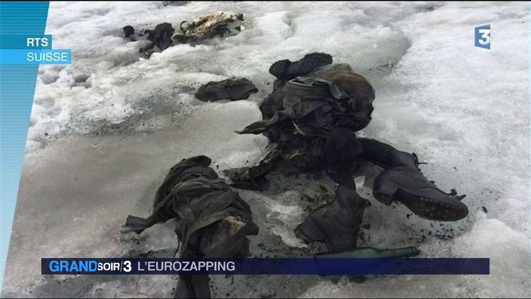 Le couple momifié retouré dans un glacier suisse (France 3)