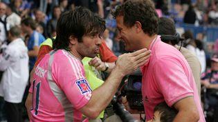 Christophe Dominici et Fabien Galthié lors de leurs adieux au Stade Français en 2008 (F. DUGIT / TEAMSHOOT TEAMSHOOT)