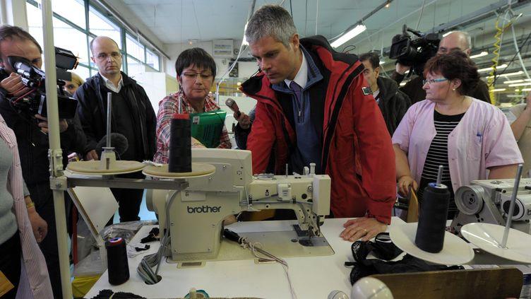 Le ministre de l'Enseignement et maire du Puy-en-Velay Laurent Wauquiez, le 27 janvier 2012 à Yssingeaux (Haute-Loire). (CLAUDE ESSERTEL / LE PROGRES / MAXPPP)