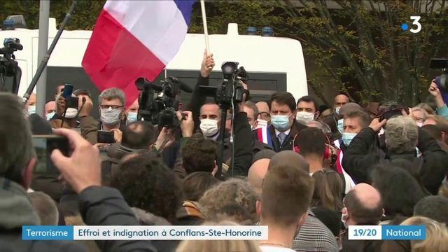 Attentat de Conflans-Sainte-Honorine : rassemblement en la mémoire de Samuel Paty