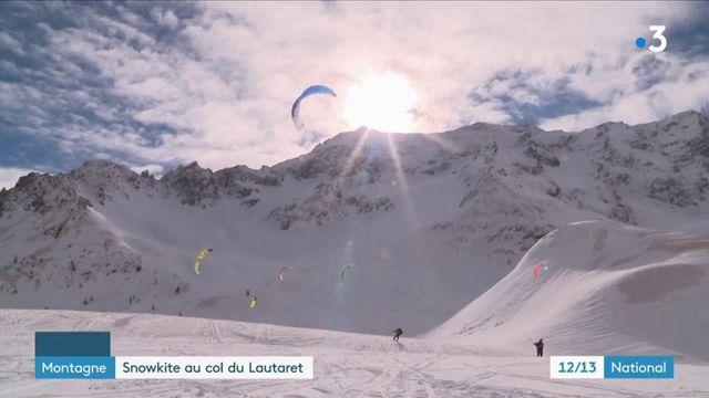 Montagne : les stations de ski se réinventent avec le snowkite