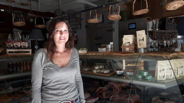 Marie Rivenez à la tête d'une entreprise de grossiste en viande. (ISABELLE RAYMOND / RADIO FRANCE)